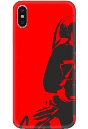 Casethrone Apple iPhone XS Max Kırmızı İçi Kadife Silikon Telefon Kılıfı Kr34 Robot