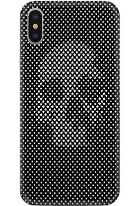 Casethrone Apple iPhone XS Max Siyah İçi Kadife Silikon Telefon Kılıfı Sb05 Yıldızlıkurukafa
