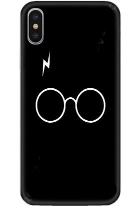 Casethrone Apple iPhone XS Max Siyah İçi Kadife Silikon Telefon Kılıfı Sb14 Herrypotter