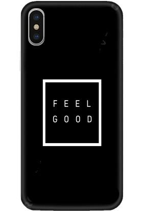 Casethrone Apple iPhone XS Max Siyah İçi Kadife Silikon Telefon Kılıfı Sb42 Feelgood