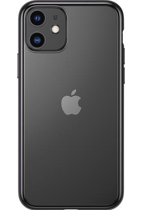 Vendas Apple iPhone 11 Benks Glitz Kenarı Renkli Soft Silikon Kılıf - Siyah