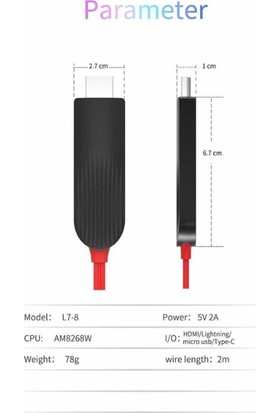 Daytona Combo 3in1 Lightning/Micro Usb/Type-C to HDMI IOS Android Görüntü Aktarıcı Kablo 1.5m