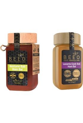 Bee'O Kestane Balı Ham Bal 300 gr + Lavanta Çiçek Balı Ham Bal 300 gr