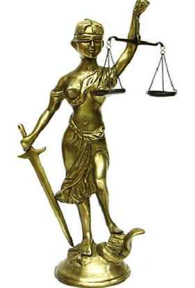 Crownwell Bronz Adalet Kadını
