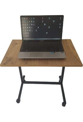 Asrimo Yükseklik Ayarlı Tekerlekli Sehpa Laptop Sehpası