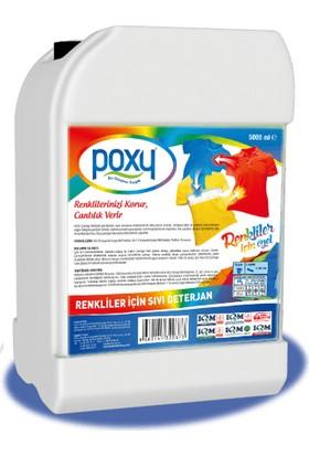 Poxy Renkliler Için Sıvı Deterjan 5000 ml