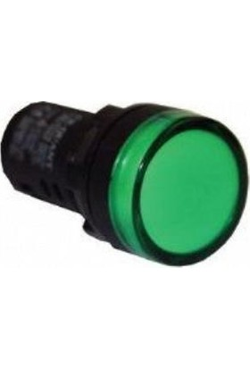 Mutlusan 22 mm Ledli Sinyal Lambası Yeşil 220V