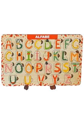 Ahşap Toys Eğitici ve Öğretici Çocuk Puzzle-Alfabe