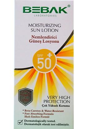 Bebak Nemlendirici Güneş Losyonu 50+ Spf Kutulu 200 ml