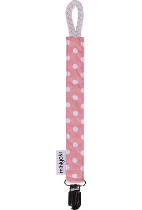 Miniyoki Pretty in Pink Pembe Emzik Askısı - Polka Dot Desenli