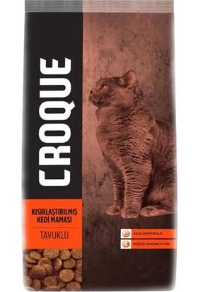 Croque Tavuklu Kısırlaştırılmış Kedi Maması 500 GR+100 gr Hediye