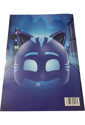 Pijamaskeliler Boyama Kitabı Sticker ve Maske 1 Adet