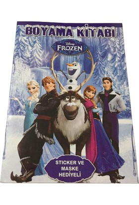 Frozen Karlar Ülkesi Boyama Kitabı (Sticker+Maskeli) 10 Adet