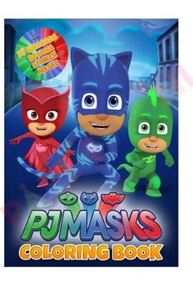 Pijamaskeliler Boyama Kitabı Sticker ve Maske 10 Adet