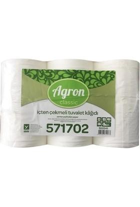 Agron Classic Içten Çekmeli Tuvalet Kağıdı 120 mt Koli Içi 12 Rulo