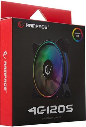 Rampage 4C-120S 120 x 120 x 25mm Gökkuşağı Renkli Kasa Fanı