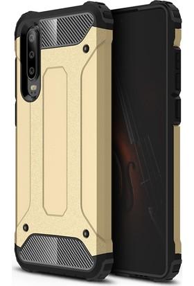 Vendas Huawei P30 Lite Secure Serisi Maksimum Korumalı Kılıf - Gold