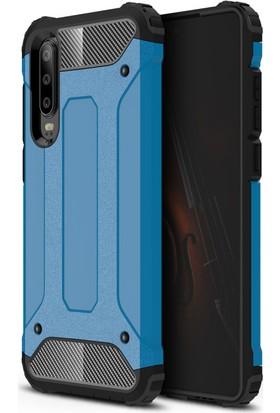 Vendas Huawei P30 Secure Serisi Maksimum Korumalı Kılıf - Mavi