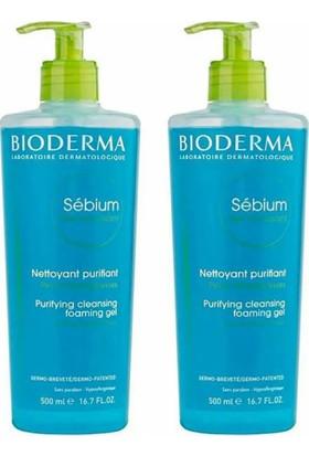 Bioderma Sebium Foaming Gel - Karma&Yağlı Ciltler için Temizleyici Jel 500 ml x 2