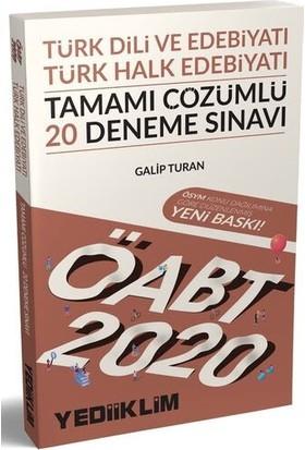 Yediiklim Yayınları 2020 KPSS ÖABT Türk Dili Ve Edebiyatı Öğretmenliği Türk Halk Edebiyatı 20 Deneme