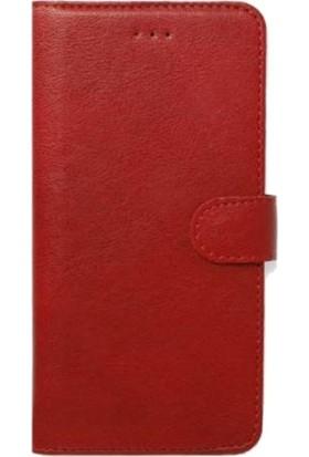 Gpack Xiaomi Redmi Note 9 Kılıf LocaL Cüzdan Standlı Kartvizitli Kırmızı
