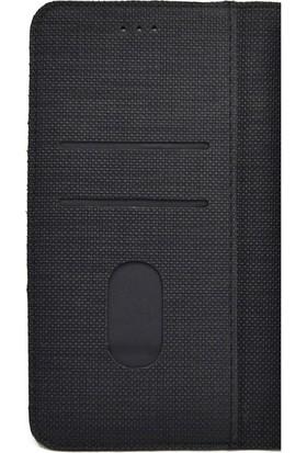 Gpack Xiaomi Redmi Note 9 Pro Kılıf Standlı Kartvizitli Exclusive Spor Cüzdan Siyah