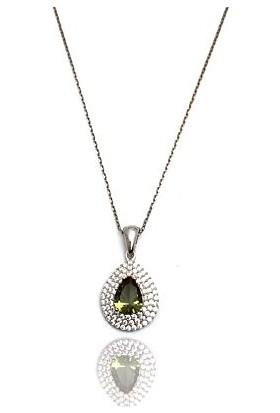 Midyat Gümüş Dünyası Özel Tasarım Zultanit Taşlı Bayan Kolye