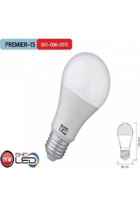 Horoz 5`Li Paket 15W E27 6400K Beyaz Işık Premier-15