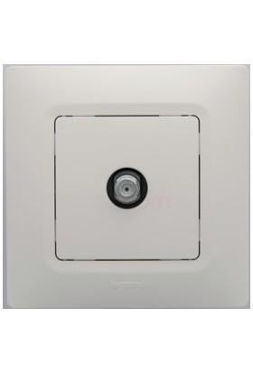 Legrand Salbei Tv Prizi F Tipi Beyaz 3245067671252 Çerçevesiz