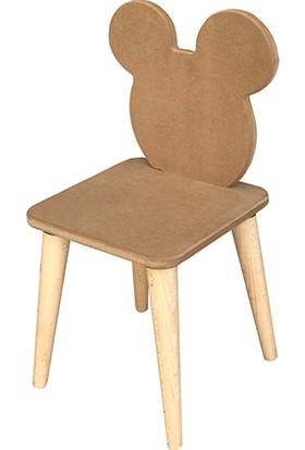 Çamsan Ahşap Boyanabilir Çocuk Masa Sandalye Takımı