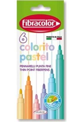 Fibracolor Colorito Keçeli Kalem Pastel 6'lı