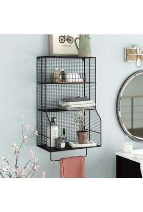 Wess Havlu Askılı Telli Banyo ve Mutfak Kafes Raf Modeli