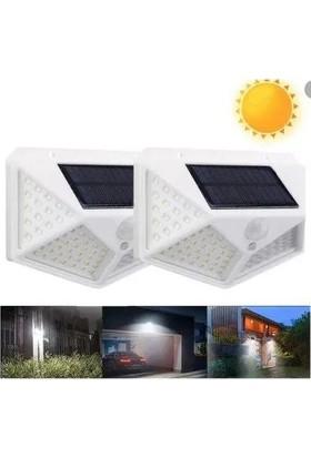 Taled 100 Ledli Güneş Enerji LED Lamba Hareket Sensörlü 3 Kademe Işık