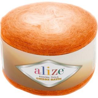 Alize Angora Gold Ombre Batik 7296 Turuncu Örgü İpi