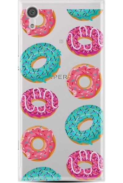 Kılıfland Sony Xperia XA1 Ultra Kılıf Silikon Resimli Kapak Colorful Donuts Stok 1256