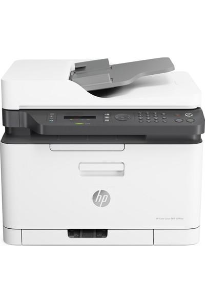 HP Color Laser MFP 179FNW Tarayıcı + Fotokopi + Faks + Wi-Fi Renkli Lazer Yazıcı 4ZB97A