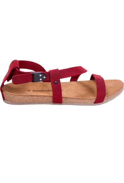 Comfortfüsse Grady Deri & Mantar Tabanlı Kadın Sandalet