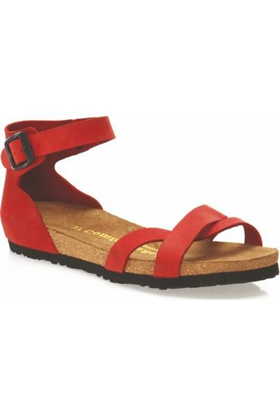 Comfortfüsse Milano Deri & Mantar Tabanlı Kadın Sandalet