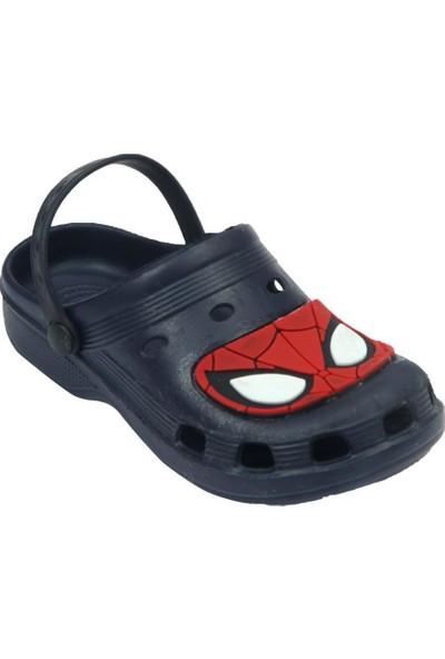 Spiderman Örümcek Adam Erkek Çocuk Lacivert Terlik Deniz Sandaleti