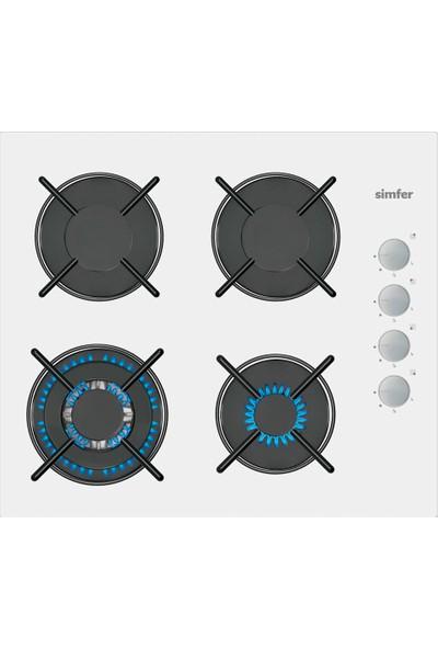 Simfer 3509 Cam Ankastre Ocak Beyaz