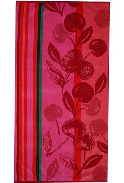 Özdilek Summer Heat Cherry Kadife 70 x 140 cm Plaj Havlusu