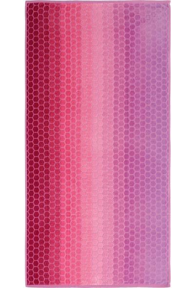 Özdilek Summer Heat Ombre Pembe Kadife 70 x 140 cm Plaj Havlusu