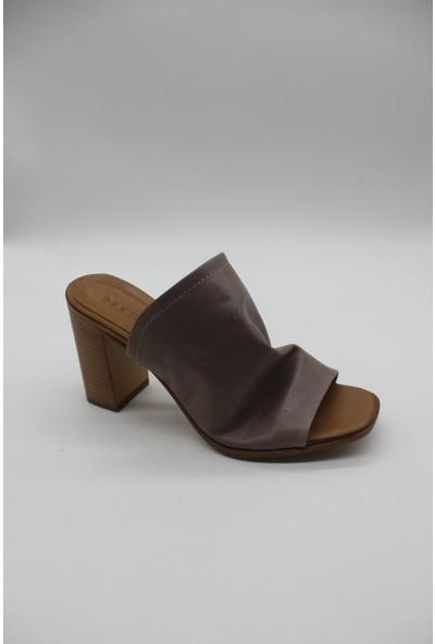 Lamartin Shoes Kadın Deri Comfort Topuklu Terlik
