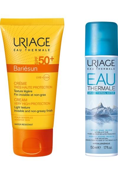 Uriage Barıésun SPF50 + Creme 50 Ml& Thermale Water 50 ml - Yüz Için Güneş Koruyucu Krem + Termal Su 50 ml