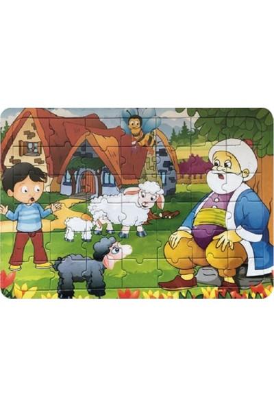 Yıldız Puzzle 42 Parça Yapboz - Arka Yüzey Boyama Kartonu