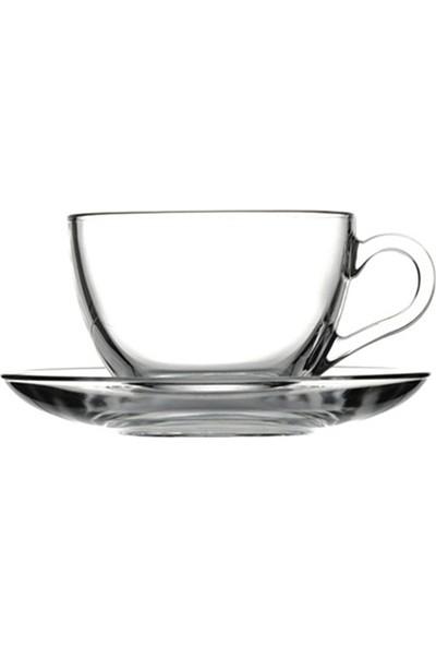 Paşabahçe Basic Çay Fincanı Tabaklı 238 cc 6 Adet
