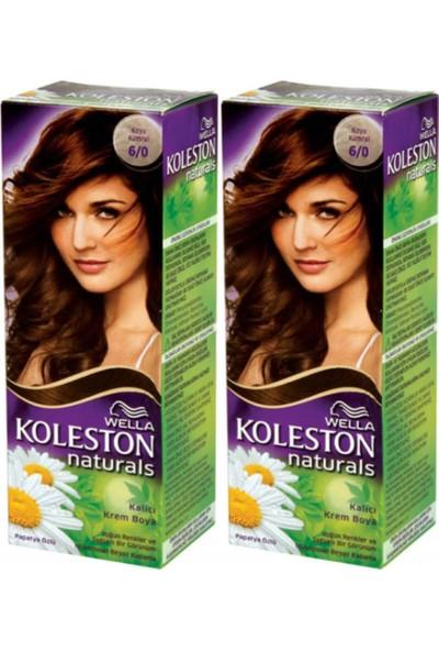 Wella 2'li Koleston Naturals 6/0 Koyu Kumral - Kalıcı Krem Saç Boyası