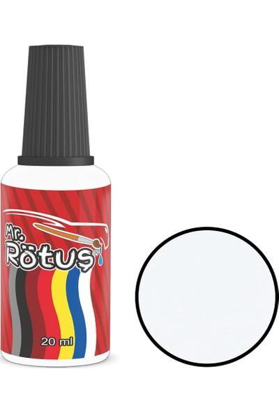 Mr Rötuş® Çizik Giderici Oto Rötuş Boyası Patentli - Buz Beyaz 10 ml