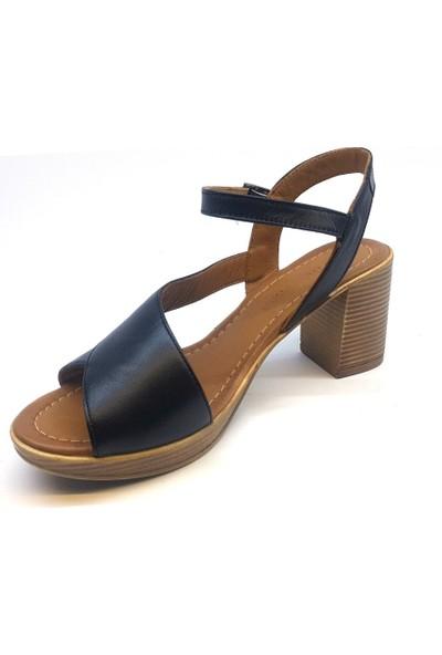 Messimod H20Y3500 Günlük Kadın Sandalet - Siyah