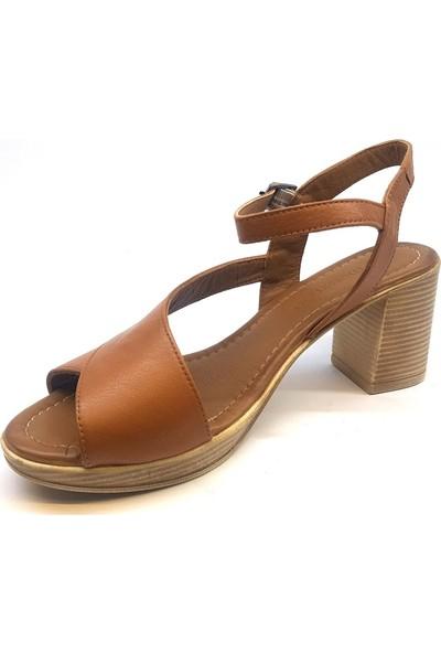 Messimod H20Y3500 Günlük Kadın Sandalet - Taba